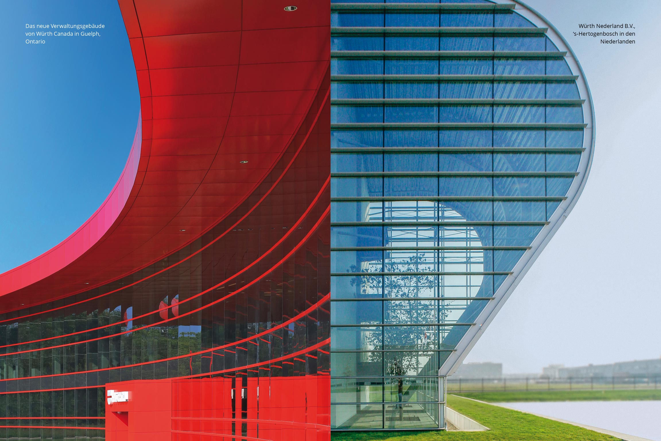 1962 gründete Reinhold Würth die erste Auslandsgesellschaft in den Niederlanden. 1987 – bereits 25 Jahre später – ist Würth auf allen fünf Kontinenten vertreten. Die Verbundenheit aller Würth Gesellschaften spiegelt sich in der Architektur: Die offene, lichtdurchflutete, kommunikative Gestaltung trägt die Unternehmenskultur über Grenzen hinweg.