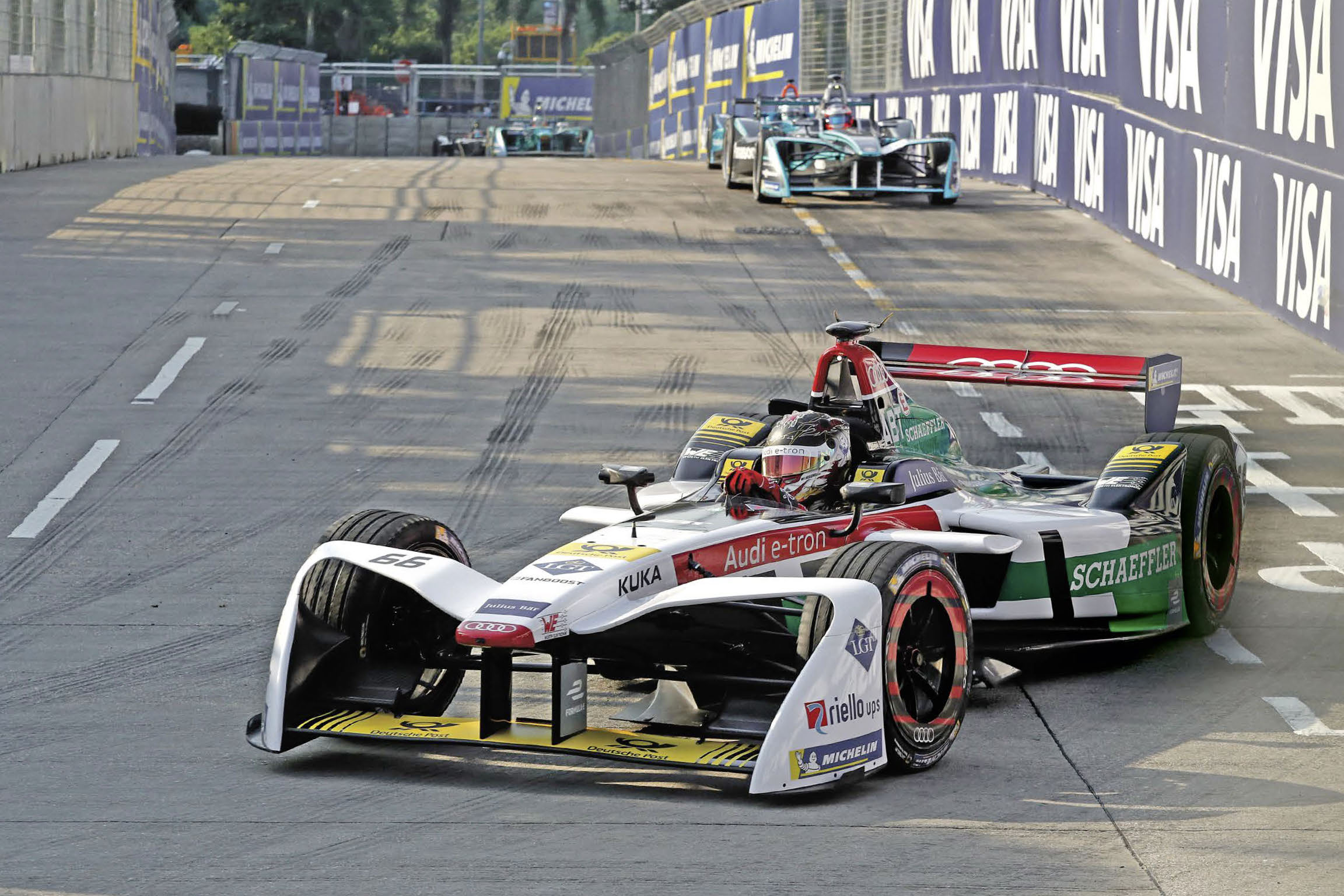 Würth Elektronik eiSos is a technology partner of the Audi Sport Abt Schaeffler racing team in the all-electric Formula E racing series. The highly efficient components contributed to Lucas di Grassi's win at the World Championship in the 2016 / 2017 season and to 2nd place in the team rankings.