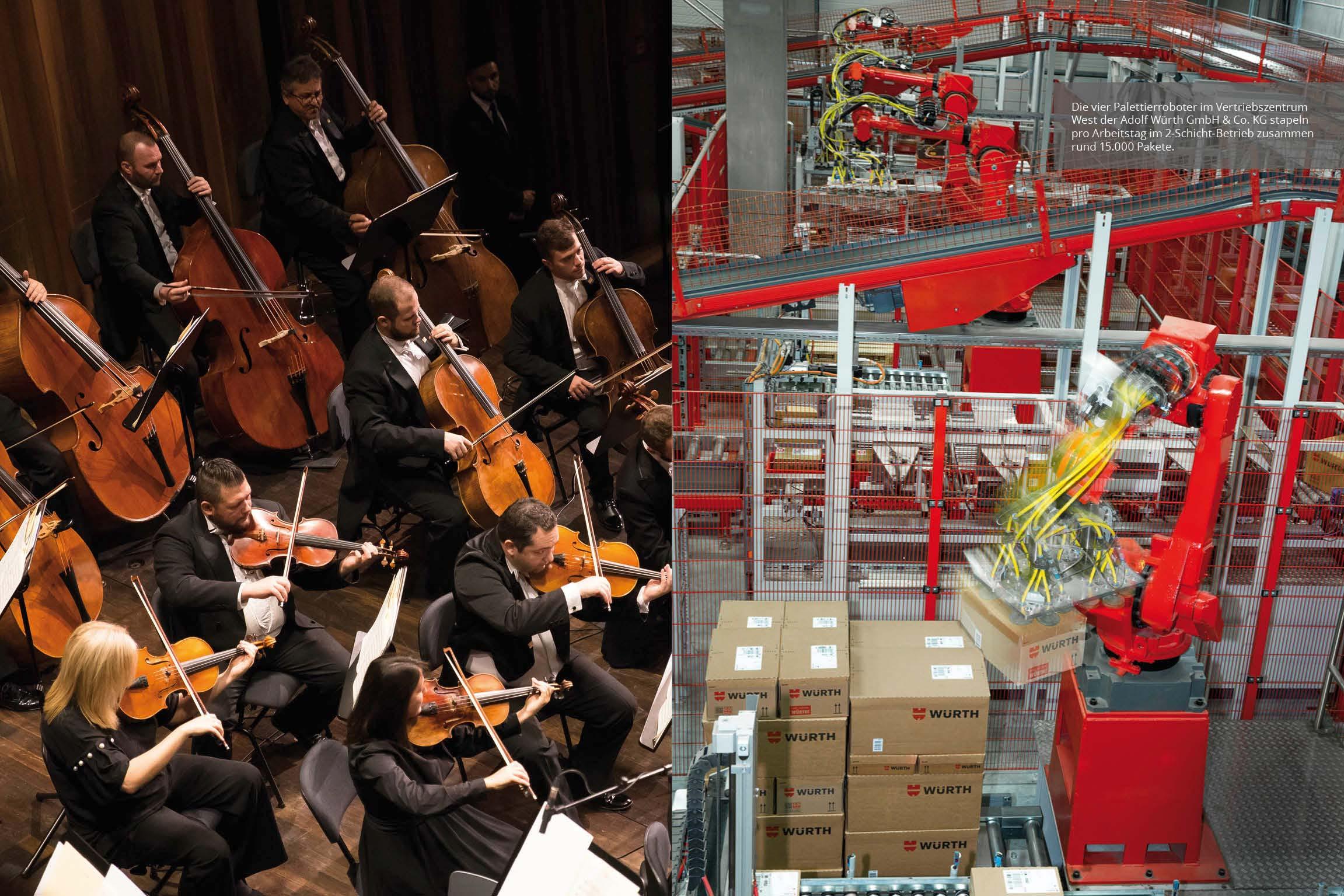 Die Würth Philharmoniker spielten in ihrer ersten Saison 16 Konzerte im Reinhold Würth Saal im Carmen Würth Forum mit bekannten Solisten und Dirigenten. Die Auftritte waren ausverkauft.